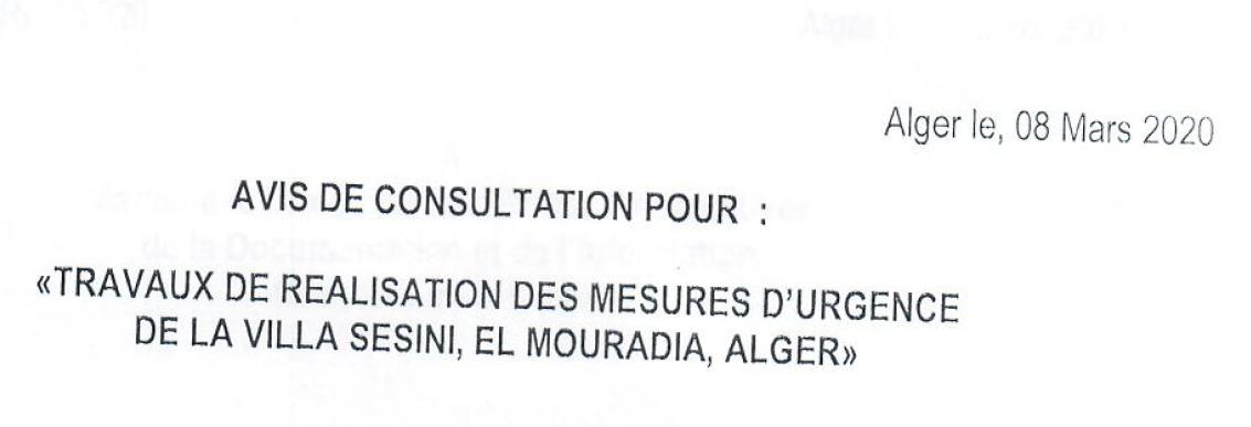 avis consultation ARPC